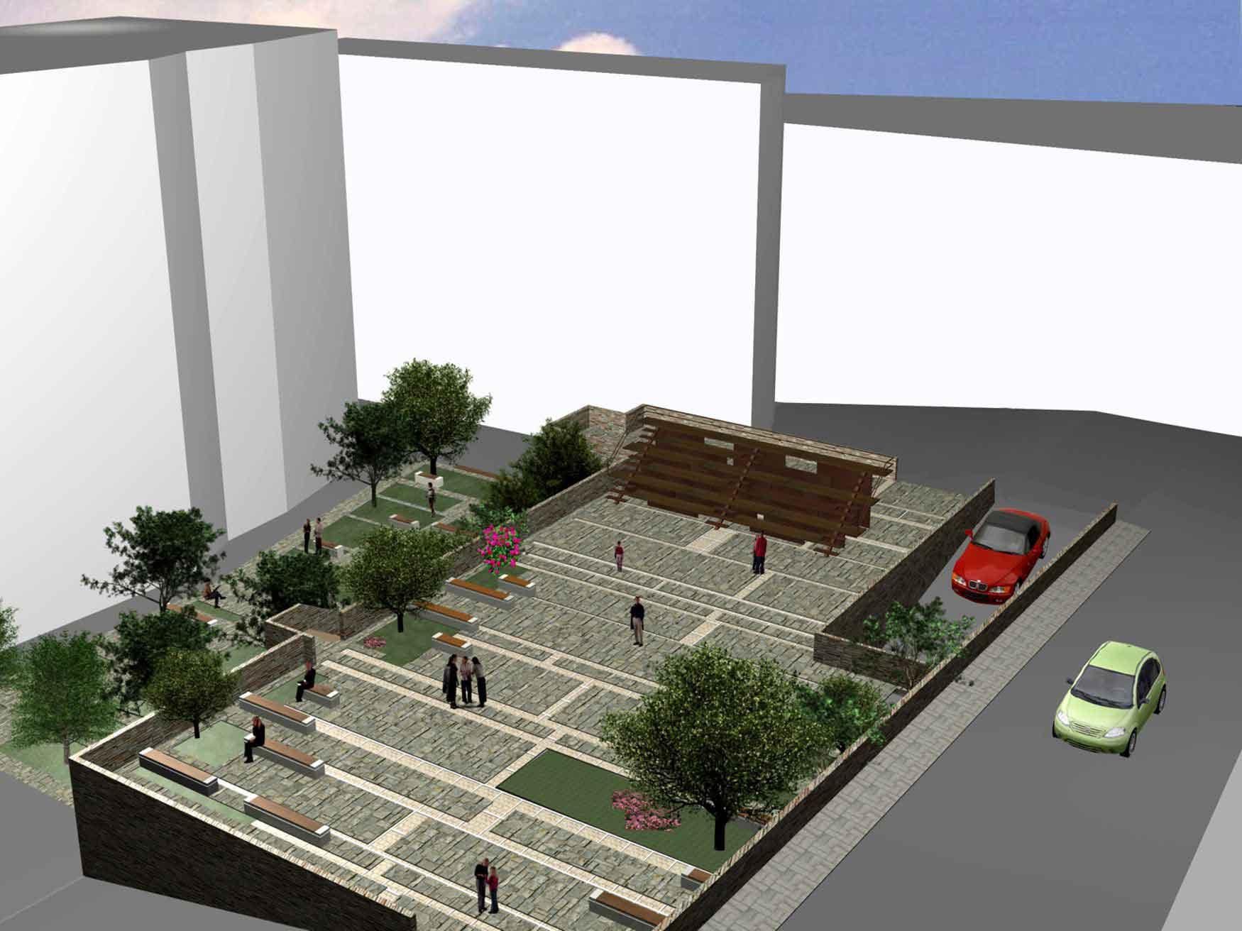 Largo san petrillo salerno studio de pascale associati for 2 box auto con piani d ufficio